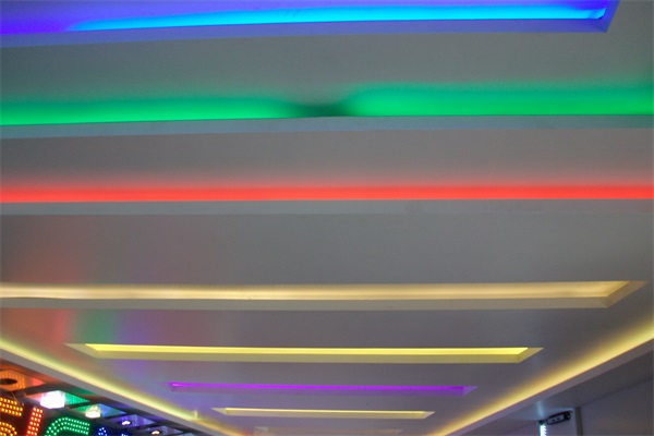 Colorful LED strip using for the indoor decorative lighting