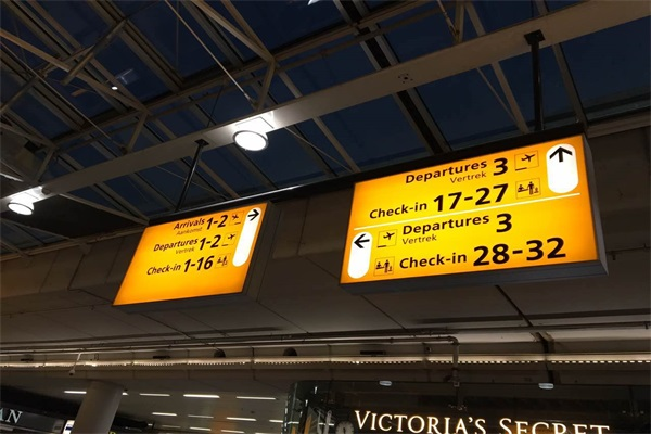 LED signs in airport